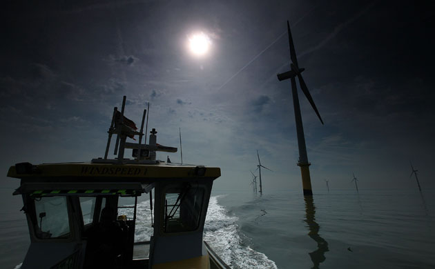 Burbo Bank WindFarm England. Image Rights: The Guardian