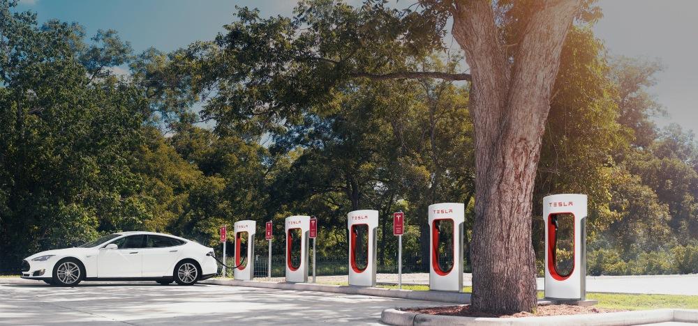 Tesla Superchargers. Image rights: Tesla Motors.