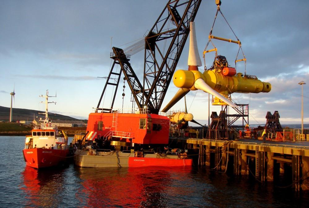 Alstrom 1MW marine turbine. Image rights: Alstom.