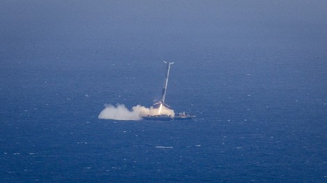 Falcon 9  reaches Just Read the Instructions. Image rights: SpaceX.