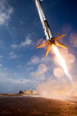One of the clearer shots of the attempted landing. Image rights: SpaceX.