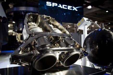 SpaceX's SuperDraco engines on display. Image rights: SpaceX.