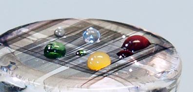 Liquid droplets on cnt