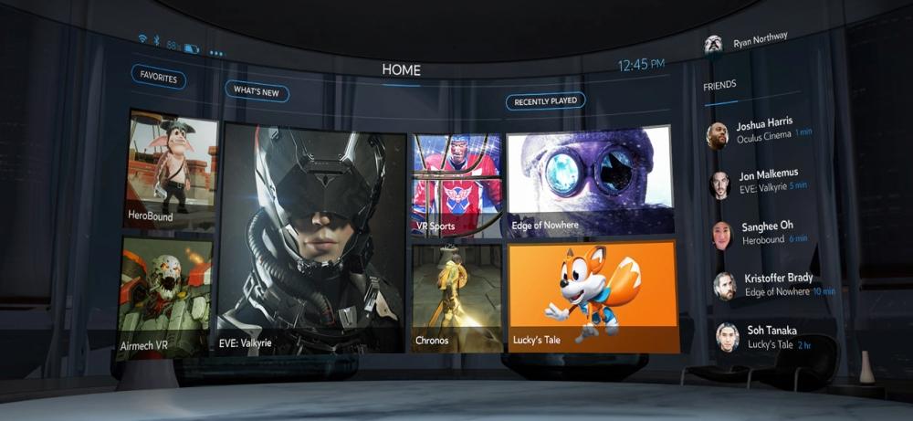 Oculus Home.