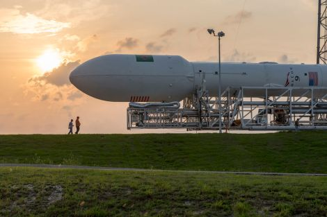 The Falcon 9 fairing sits at the top of the rocket and houses satellites for delivery into orbit. It is 13.1m (43 ft) tall and 5.2m (17.1 ft) in diameter.