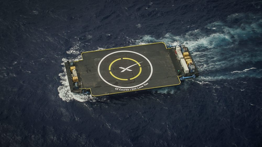 Drone ship 'Of Course I Still Love You'. Image via SpaceX.