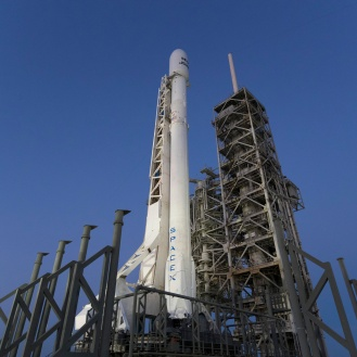 Falcon 9 awaits launch of SES-10.